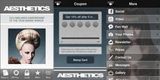 Aesthetics App Screen shots
