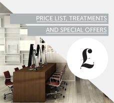 Price list, Treatments and Offers